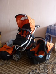 Детская коляска X-LANDER XV 2010г. 3 в 1 трехколесная б/у