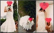 Свадебное платье-трансформер,  цвет айвори,  46 размер